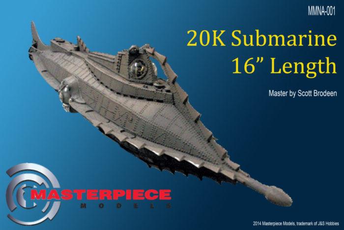 """The Nautilus 16"""" 20K Submarine"""