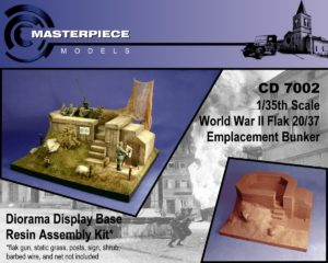 WWII Flak Emplacement Bunker Model Kit