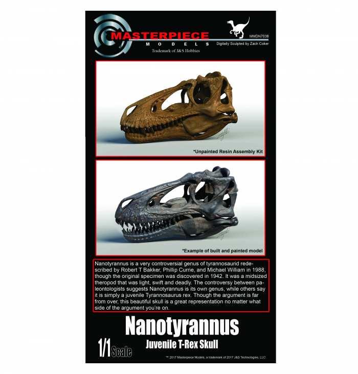 Nanotyrannus/juvenile T-Rex resin assembly kit.