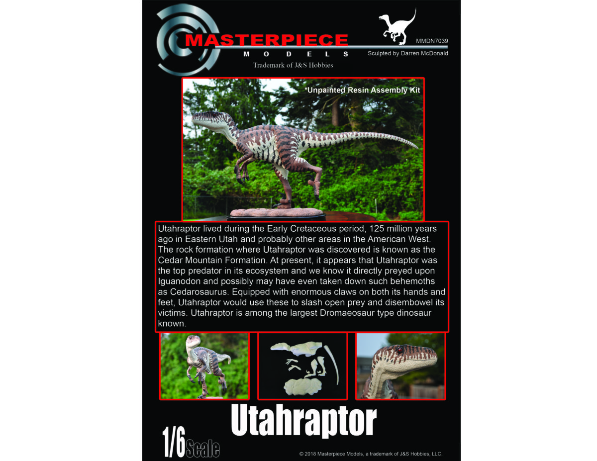 Utahraptor 1/6 Scale MMDN7039 $149.99