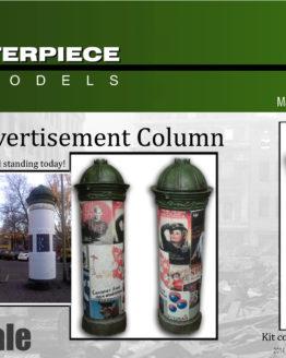 German Advertising Column Model Kit 1/35th Scale