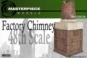 Factory Chimney Model Kit 1/48th Scale