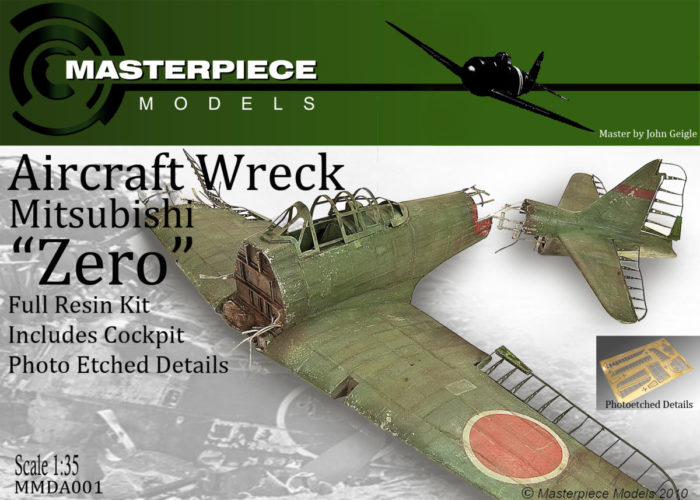 Wrecked Japanese Zero Model Kit