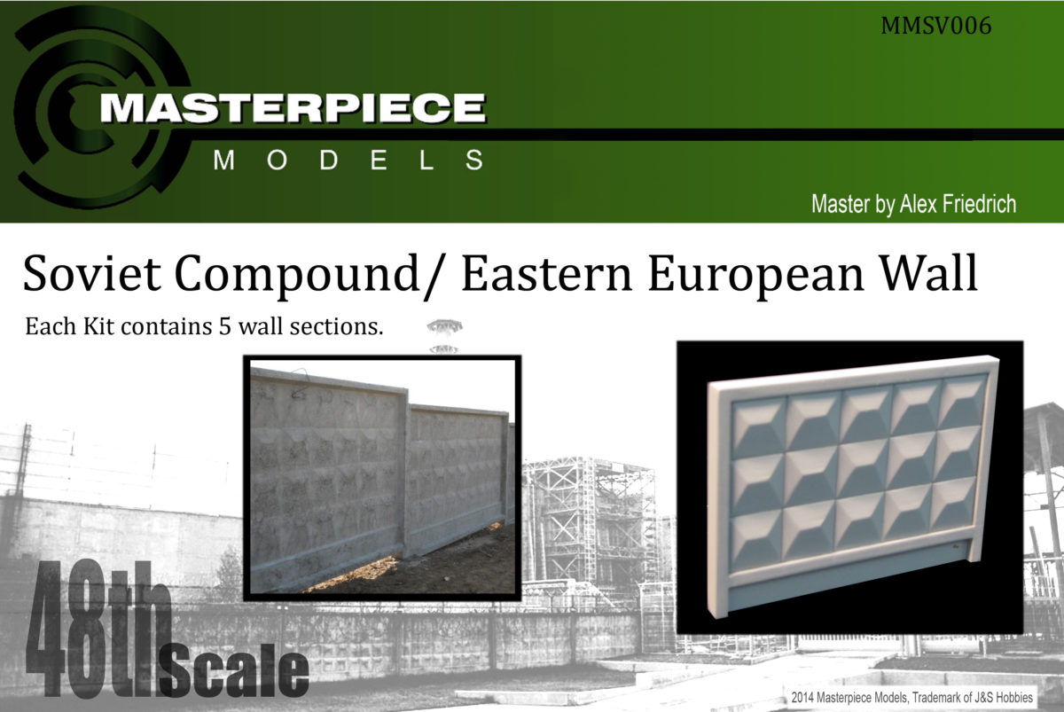 1/48th scale SOVIET/ EASTERN EUROPEAN WALL SECTION 5 PACK