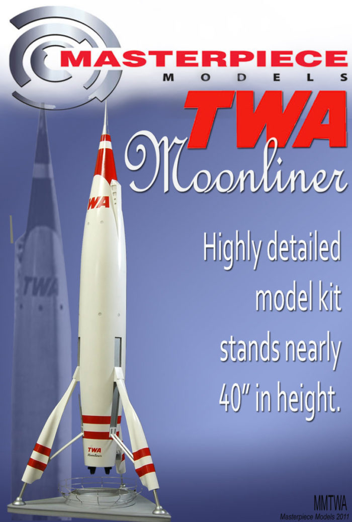 "TWA Moonliner 41"" Tall Resin Kit"