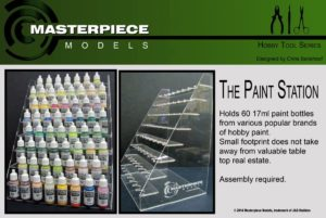 Acrylic 17ml paint bottle organizer