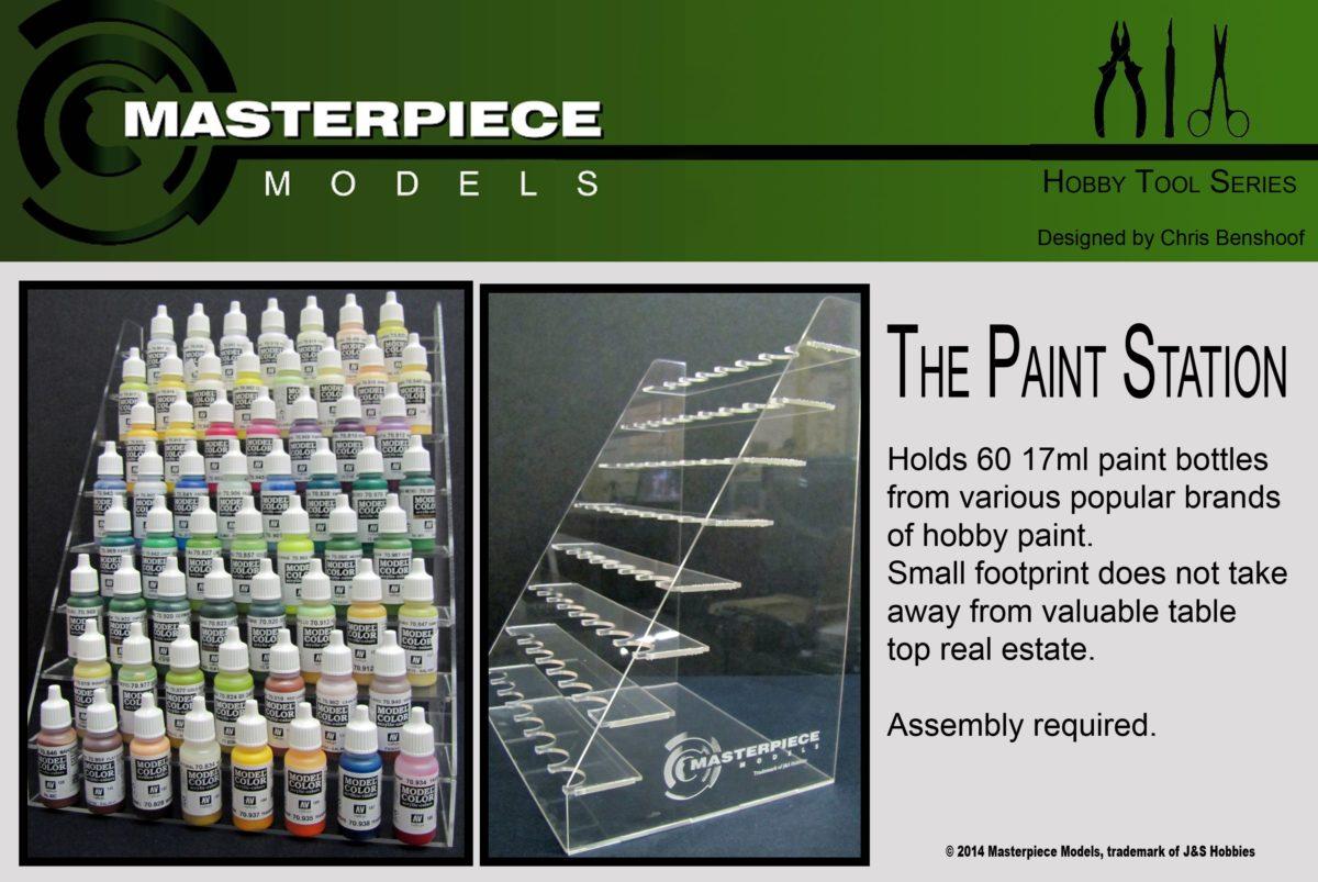 Acrylic 17ml paint bottle organizer