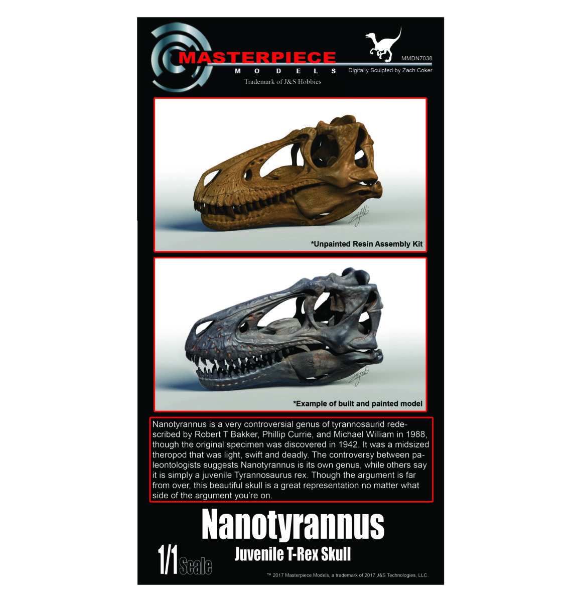 Nanotyrannus/juvenile T-Rex resin assembly kit.