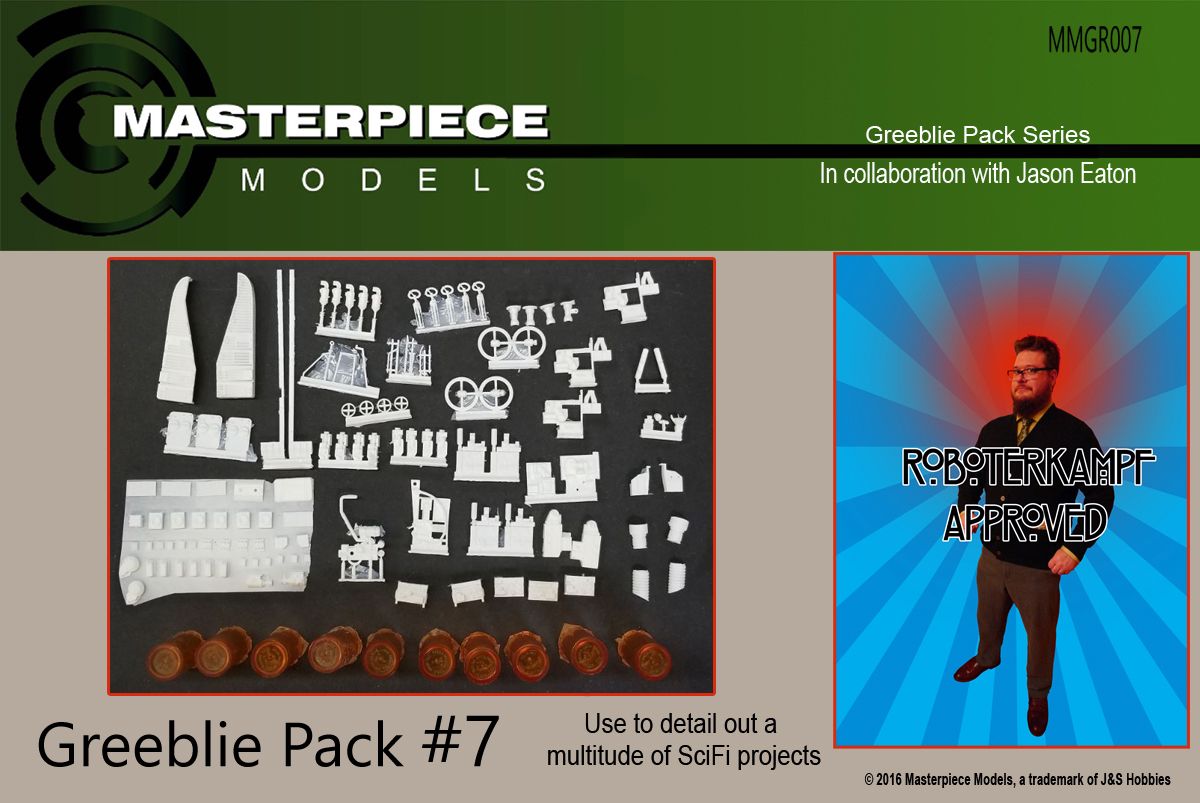 GREEBLIE PACK #7 ROBOTERKAMPF APPROVED SCIFI DETAILING KIT