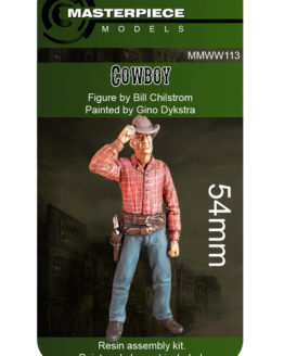 resin model kits cowboy 54mm