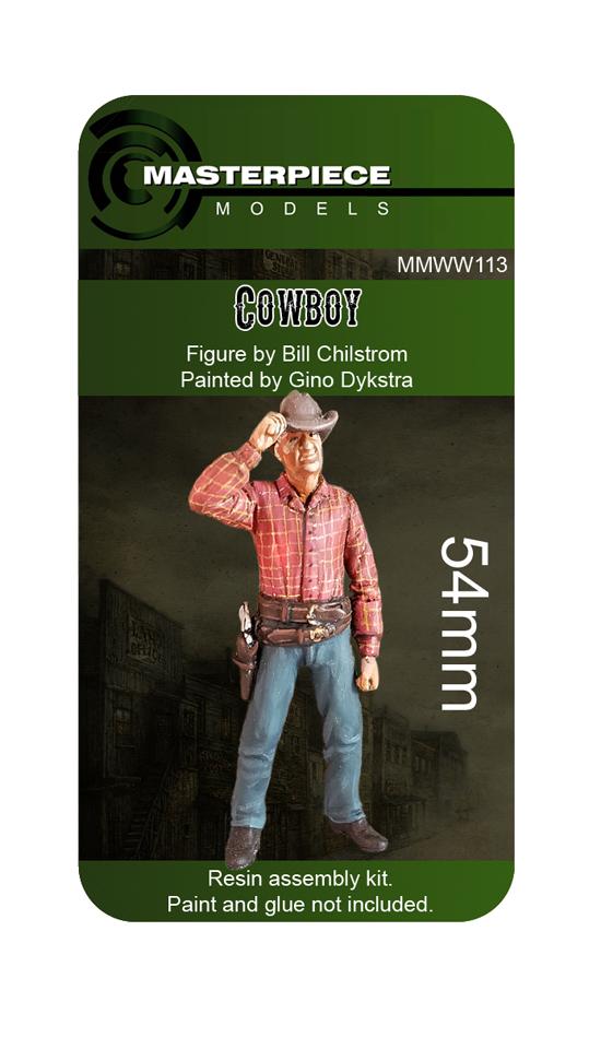 resin model kits cowboy 54mm