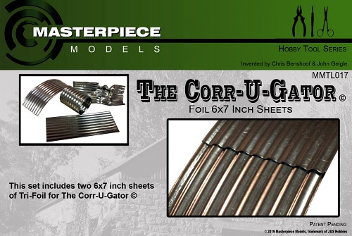 The Corrugator Foil 6x7 inch Sheets