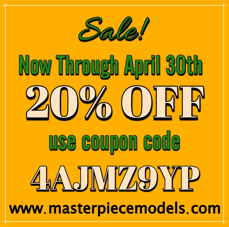 Masterpiece Models Coupon Code